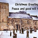St Cuthbert's Church at Dalmeny - Christmas Card by Tom Gomez