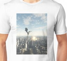 Dragon Attacking a Future City Unisex T-Shirt