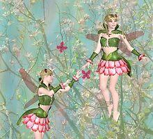 Fairies Chasing Butterflies by Rosalie Scanlon