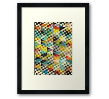 Dots and Triangles II Framed Print