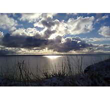 Snowstorm out to sea Photographic Print