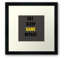 Game. Framed Print