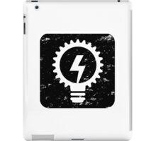 Square-Power&Light-Black iPad Case/Skin