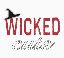 Wicked Cute with Witch Hat Kids Tee