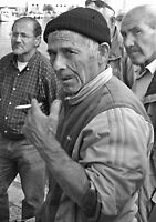 Smoke Break - Fisherman, Gallipoli Italy by Debbie Pinard