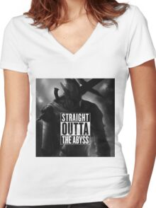 Straight Outta The Abyss - Knight Artorias Women's Fitted V-Neck T-Shirt