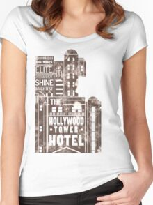 Tower of Terror  (distressed edition) Women's Fitted Scoop T-Shirt