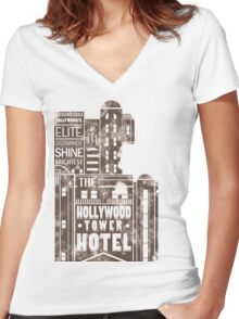 Tower of Terror  (distressed edition) Women's Fitted V-Neck T-Shirt
