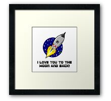 Love To The Moon Framed Print