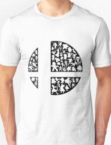 Super Smash Bros Character Logo (Black) T-Shirt