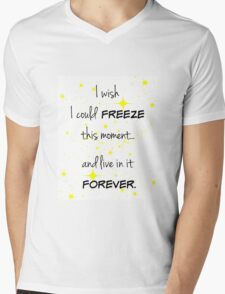 Freeze this Moment Forever Mens V-Neck T-Shirt