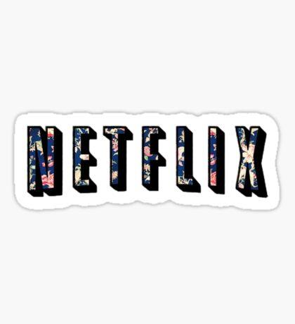 Floral Netflix  Sticker