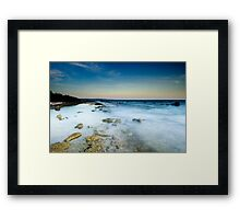 White ocean - Sunset in Bonaire Framed Print