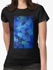 Blue Bubbles Womens Fitted T-Shirt