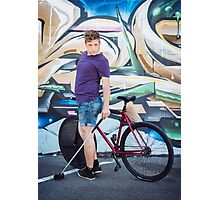 Pinup Bike Polo Cutie #8 Photographic Print