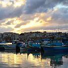 Sunset at Marsaxlokk by Xandru