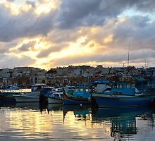 Sunset at Marsaxlokk by Xandru