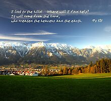 I look to the mountains... Ps 121 by relicards