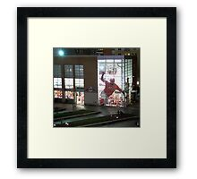 MLB Cincinnati Reds Baseball Stadium/Museum at Night Photo Framed Print
