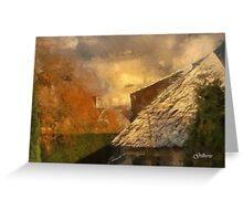 White and Autumn Colours - Edegem - Belgium Greeting Card
