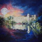 Moonlight over Warwick Castle by Jen  Manning
