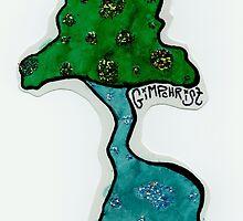 Blue Glittershroom    California Mushrooms Original Sticker by gimpchrist
