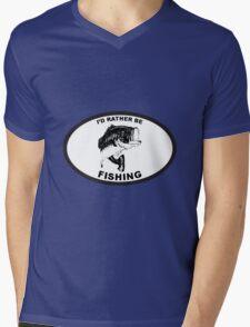 Rather be fishing Bass Mens V-Neck T-Shirt
