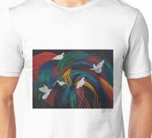 Doves on Fronds Unisex T-Shirt
