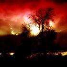 Red Hue Sky by DakiniGoddess