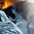 Golden Sunset in Gullfoss by Ritva Ikonen