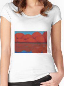 Orange Mountains Women's Fitted Scoop T-Shirt