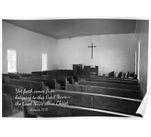 Church With Scripture Poster