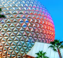 Spaceship Earth at Dusk by mousekeshop