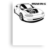 Mazda MX-6 (Model Name, Right) Canvas Print