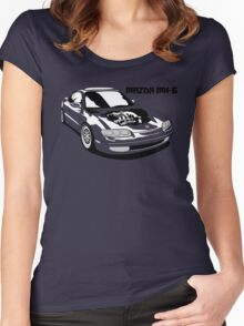 Mazda MX-6 (Model Name, Right) Women's Fitted Scoop T-Shirt