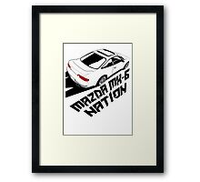 Mazda MX-6 (Birds Eye, 3/4 view) Framed Print