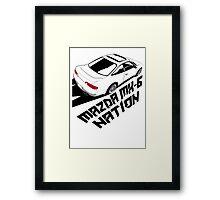 Mazda MX-6 (Birds Eye, 3/4 view) Framed Print