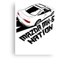 Mazda MX-6 (Birds Eye, 3/4 view) Canvas Print