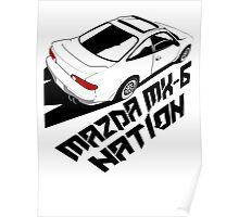 Mazda MX-6 (Birds Eye, 3/4 view) Poster