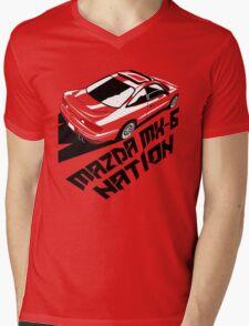 Mazda MX-6 (Birds Eye, 3/4 view) Mens V-Neck T-Shirt