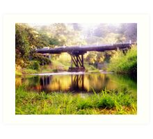 Foggy Creek Bridge  Art Print