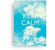 Keep Calm and Free Fall Canvas Print