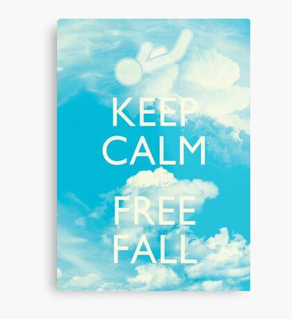 Keep Calm and Free Fall Metal Print