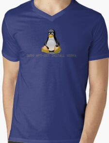 Linux - Get Install Vodka Mens V-Neck T-Shirt