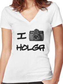 I Love Holga Women's Fitted V-Neck T-Shirt
