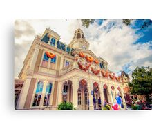 City Hall at Halloween Canvas Print