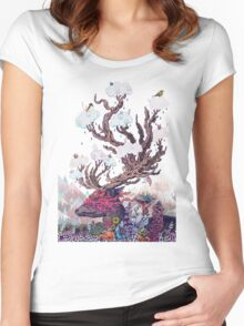 Journeying Spirit (deer) Women's Fitted Scoop T-Shirt