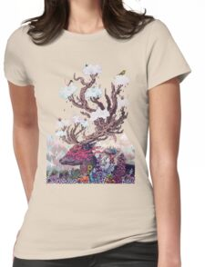 Journeying Spirit (deer) Womens Fitted T-Shirt