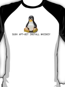 Linux - Get Install Whiskey T-Shirt