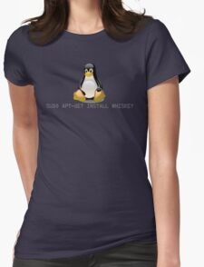 Linux - Get Install Whiskey Womens Fitted T-Shirt